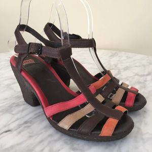 Camper Strappy Multicolored Heeled Sandals 7